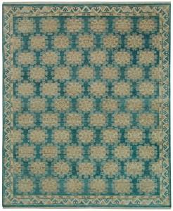 KARABAGH Turpan Blue Gold 8226049 9.10x8.2