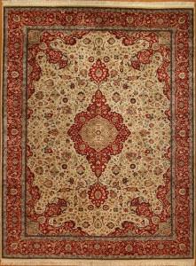 Nc Cl Nizam Keshan Ivory Red 0011933 12x9 Bw