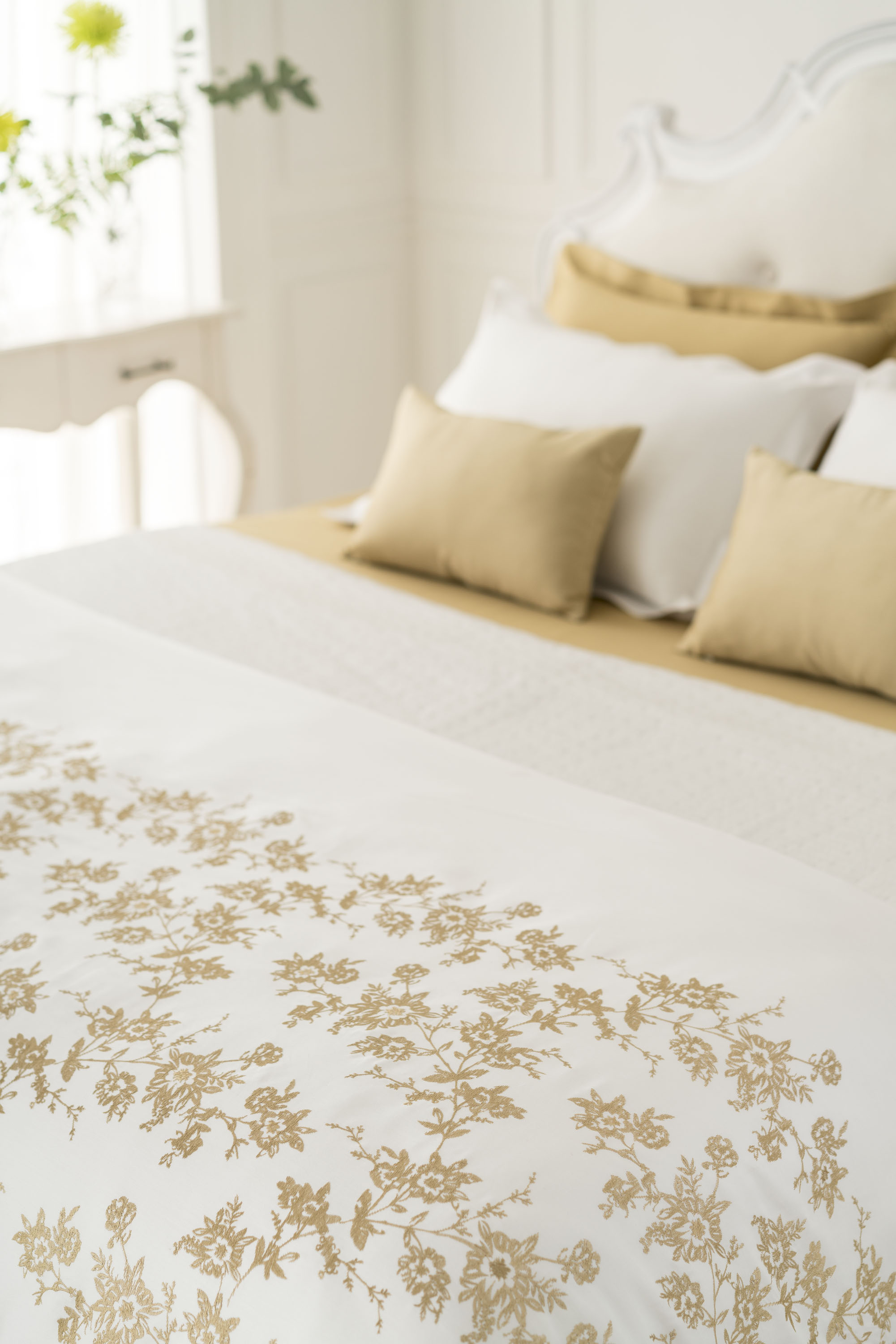 from digital printing techniques to finely embroidered handwork each designed bedding set that comes coordinated with crisp linens